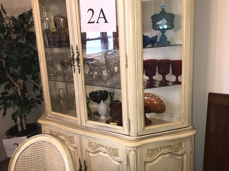 +/-7 Ft. 6 Door French Provincial Style China Cabinet *Matches Item 4