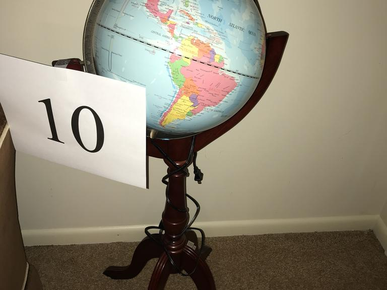 Lighted Globe on Stand