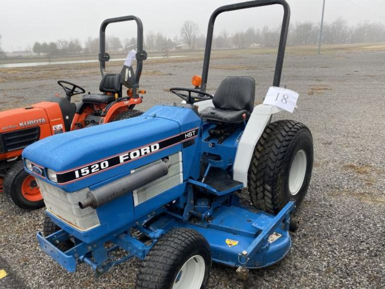 Ford Hydrostatic Drive 1520 Tractor +/-1,748 HRS; 3 Ph; +/-6 Ft. Mower Deck