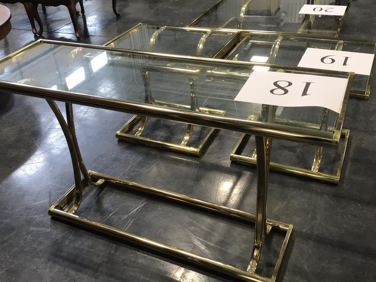 POLISHED BRASS SOFA TABLE