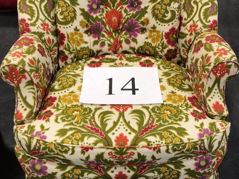 VINTAGE McBRIDE INTERIORS FLORAL SIDE CHAIR